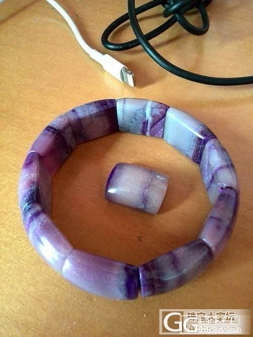 转10mm和8.5mm蓝晶情侣手串和小舒手排1个_宝石