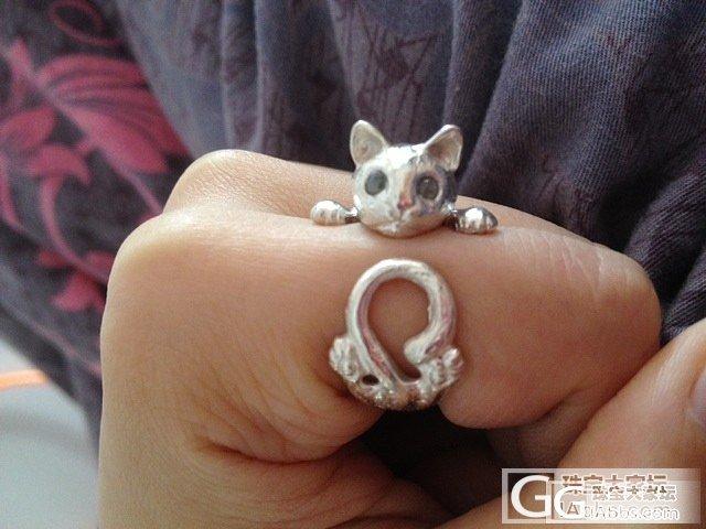 我的小猫咪_戒指银