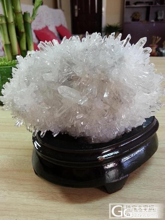 白水晶完美晶簇摆件_宝石