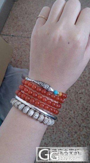 、我的小南红和银子_南红手镯珠串银