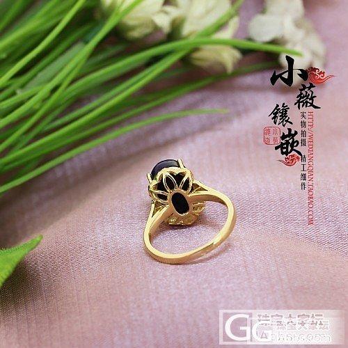 小薇镶嵌 出货欣赏 18K黄金舒俱来镶小黄钻戒指_镶嵌珠宝