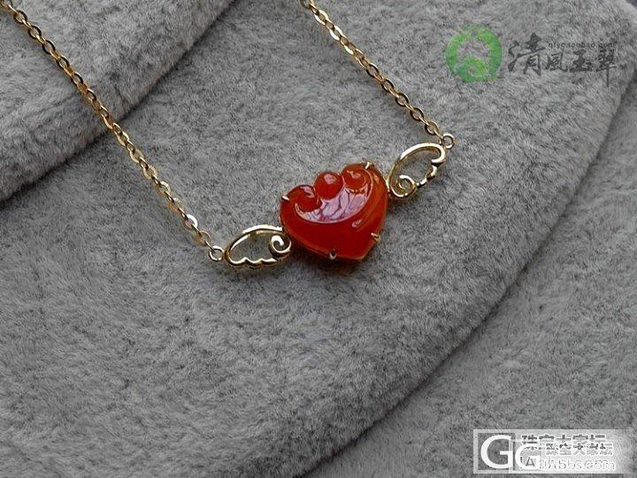 【清风玉翠】飘逸的小天使锁骨链/18K金镶红翡_清风玉翠