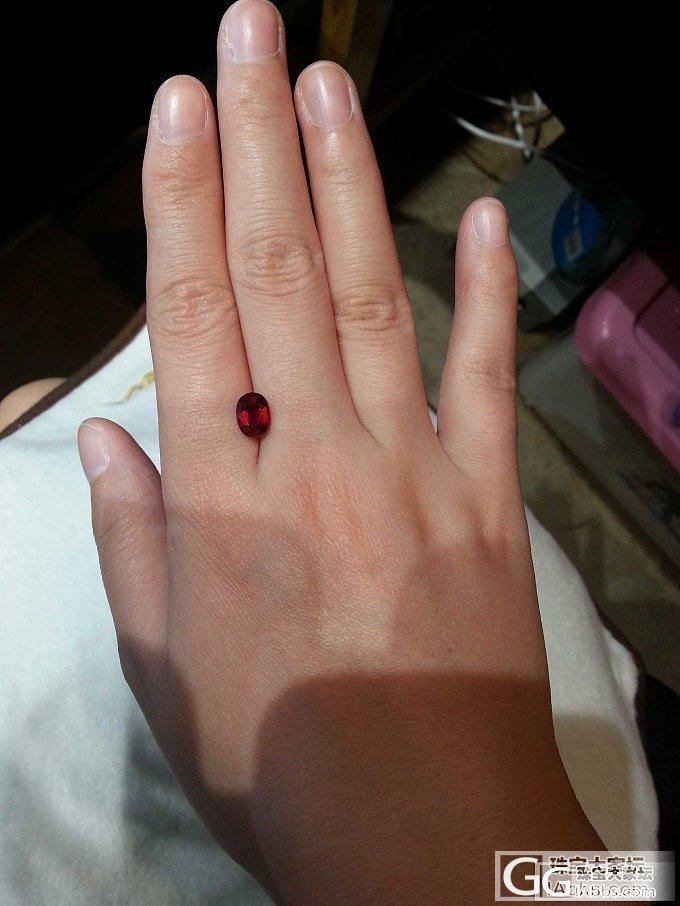 【红宝石】超级特价一颗2.03ct的无烧vivid red莫桑比克带GRS_莫桑石宝石