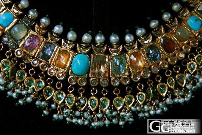 今天重拍的图《17世纪印度昆丹宝石项链》_名贵宝石