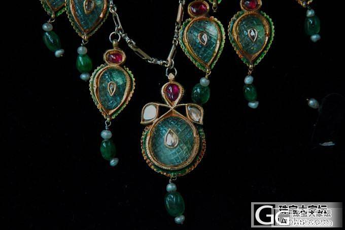 今天重拍的图《17世纪印度昆丹宝石项..._名贵宝石