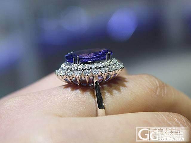 晒晒一颗美丽的坦桑石_珠宝