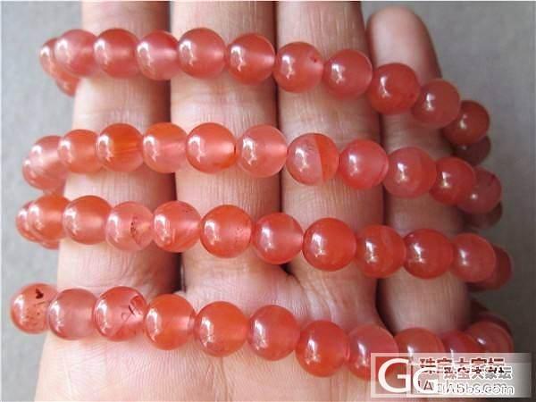 天然  南红玛瑙  樱桃红  7mm  手链  佛珠108颗320元_传统玉石