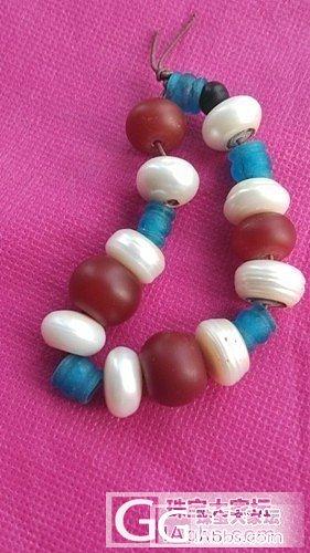 古玩市场淘来的老货,有玉璲,有琉璃,白珠子闪亮光_珍珠
