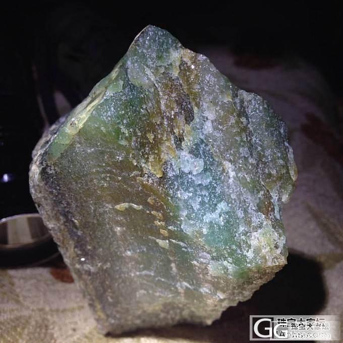 看看原石是黄绿翡翠还是其他材料?_翡翠半成品