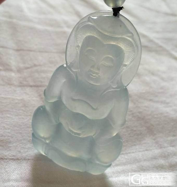 天然缅甸翡翠(A货)--起光,起胶--晴水蓝--观音_翡翠