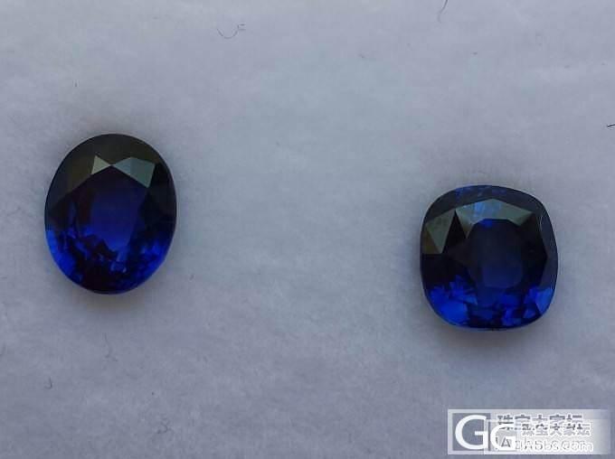 请专家品评这两颗小蓝宝!_蓝宝石