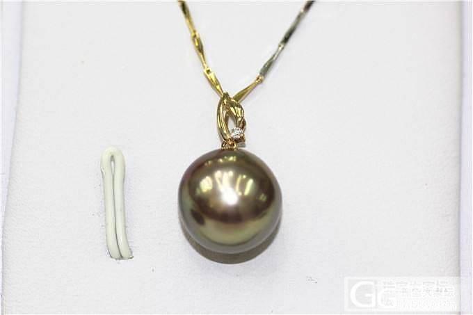 【伊人美珍珠】古铜色带紫色虹光爱迪生珍珠吊坠 仅此一颗_有机宝石