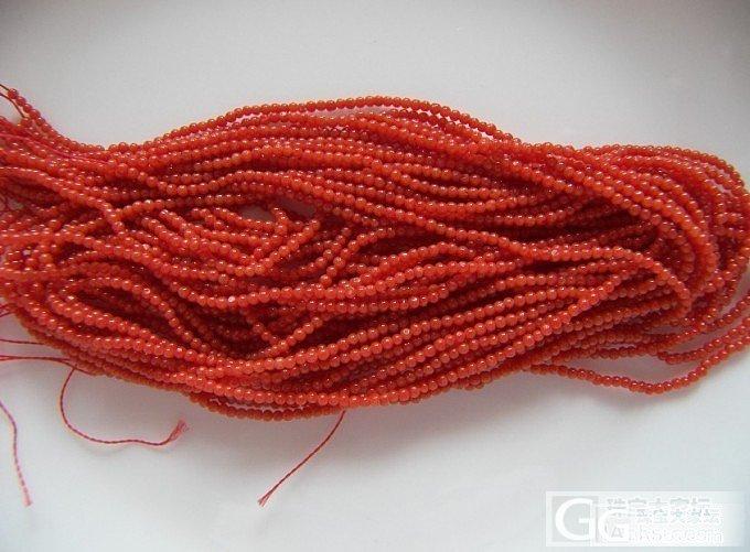 天然颜色沙丁红珊瑚1.7mm圆珠项链_有机宝石