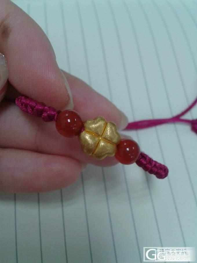四叶草手绳,唯一的一件硬金,有闪必还!_编绳金