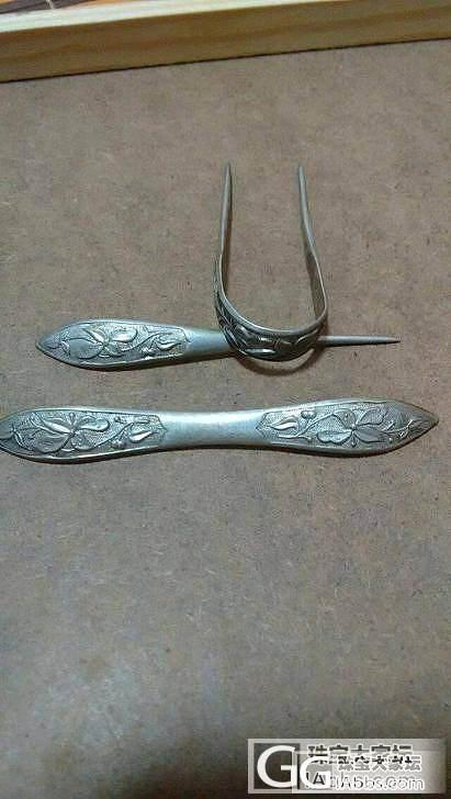 一套清代传世的单双尖和弯尖的套簪_珠宝