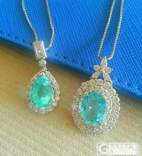 好玩的吊坠,钻石白金加宝石。大家看看是啥宝石啊。_珠宝