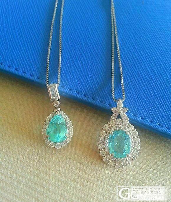 好玩的吊坠,钻石白金加宝石。大家看看..._珠宝
