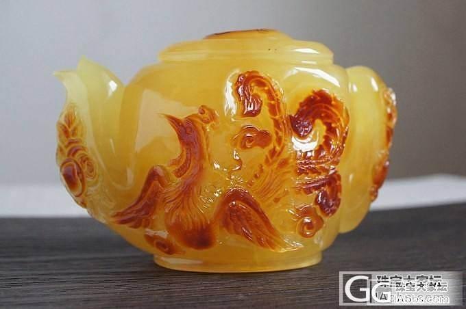 天然波罗的海琥珀 极品收藏级 大摆件 1404 蜜蜡茶壶 182.6g_有机宝石