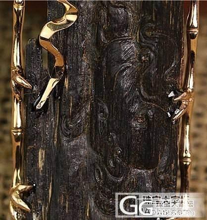 【稀饭香铺】印尼达拉干 镶金雕件 黑油老料_珠宝