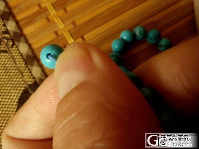 懂行的来看看松石真假!是何种造假手段_传统玉石
