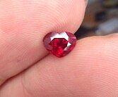 满火明亮的1卡多的红心_红宝石刻面宝石