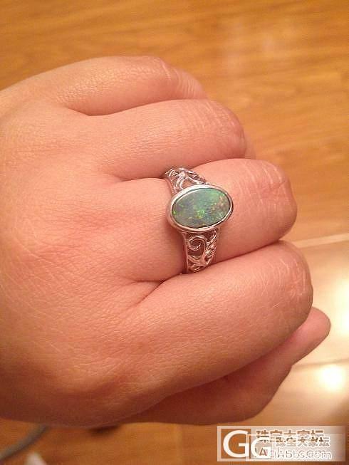 我买的欧泊戒面,打算做戒指,做好了,..._欧泊刻面宝石