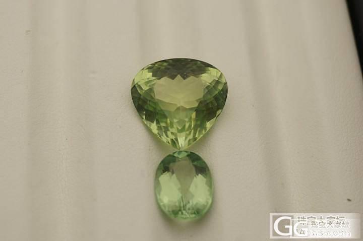 发两颗绿色小清新,一个11.5ct,..._碧玺刻面宝石