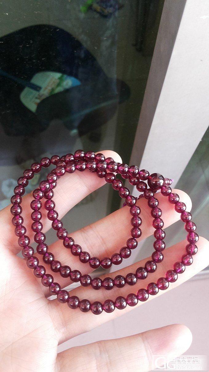 晶体超赞的紫石榴108佛珠低价转求交..._宝石