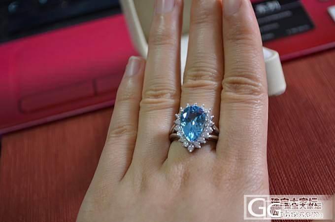 刚拍来的托帕石戒指(带证,豪镶,闪爆..._托帕石刻面宝石