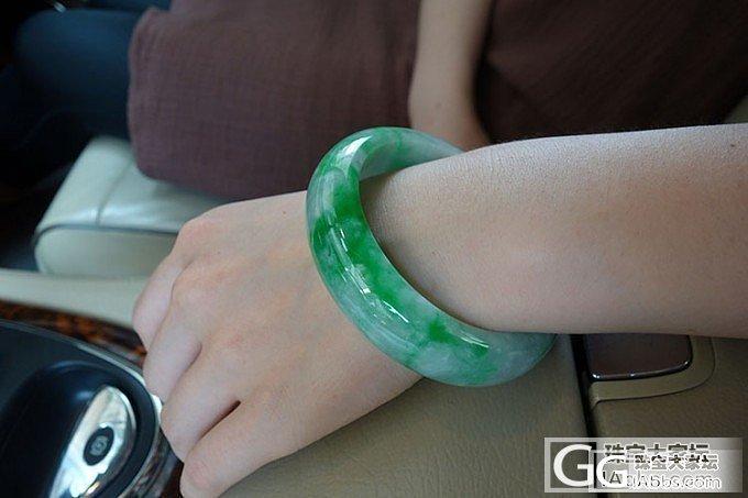 老坑宽版正装天然辣绿翡翠手镯/种细腻有光泽的玉镯子_翡翠