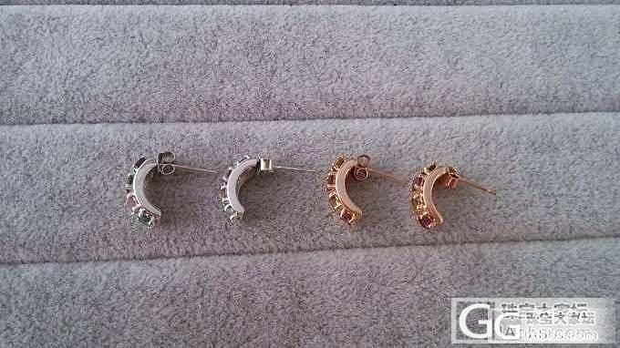 【福星玉器】925银镶嵌碧玺耳环,110一对_福星玉器信南