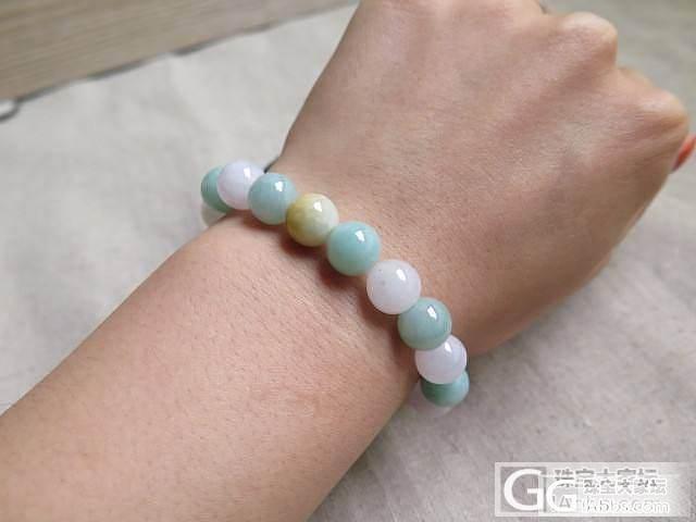 三彩珠子手串——————【凤灵翡翠】_翡翠