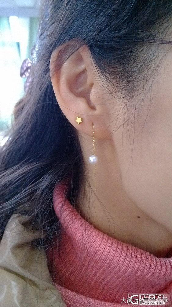 18K耳线_耳线金