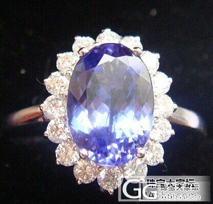戴妃款的坦桑石戒指_坦桑石刻面宝石