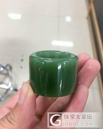 顶级密度浅碧玉素面扳指1800出售_传统玉石