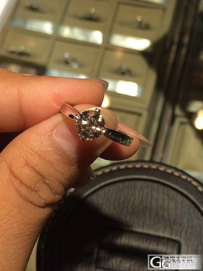 入论坛一周,搞定婚戒一对。_钻石
