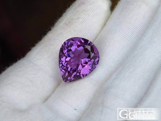 精工切割,完美火彩,天然深色巴西紫水晶裸石_宝石
