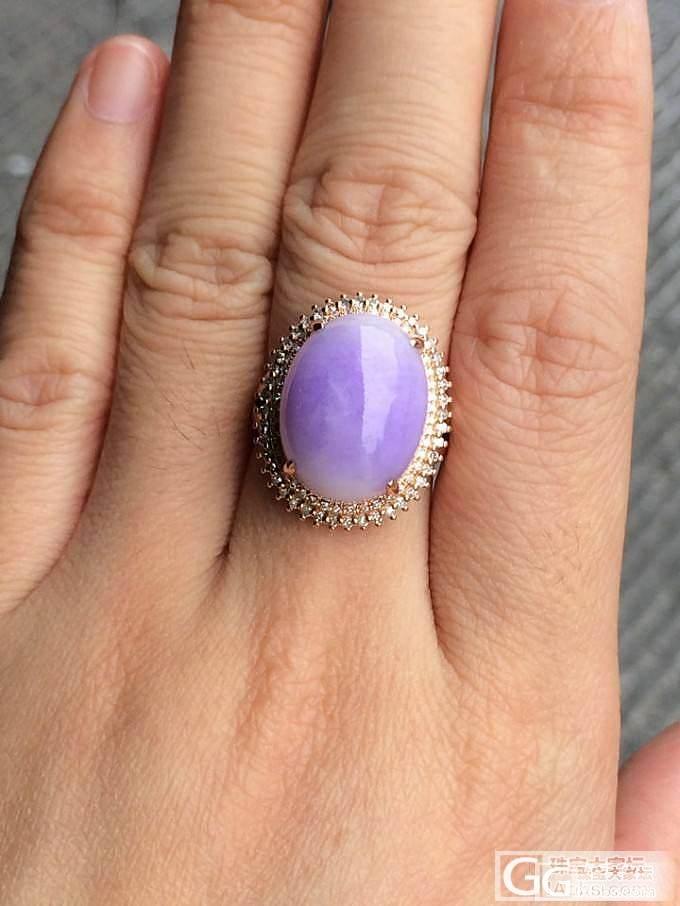 冰糯种紫罗兰翡翠戒指2个_翡翠