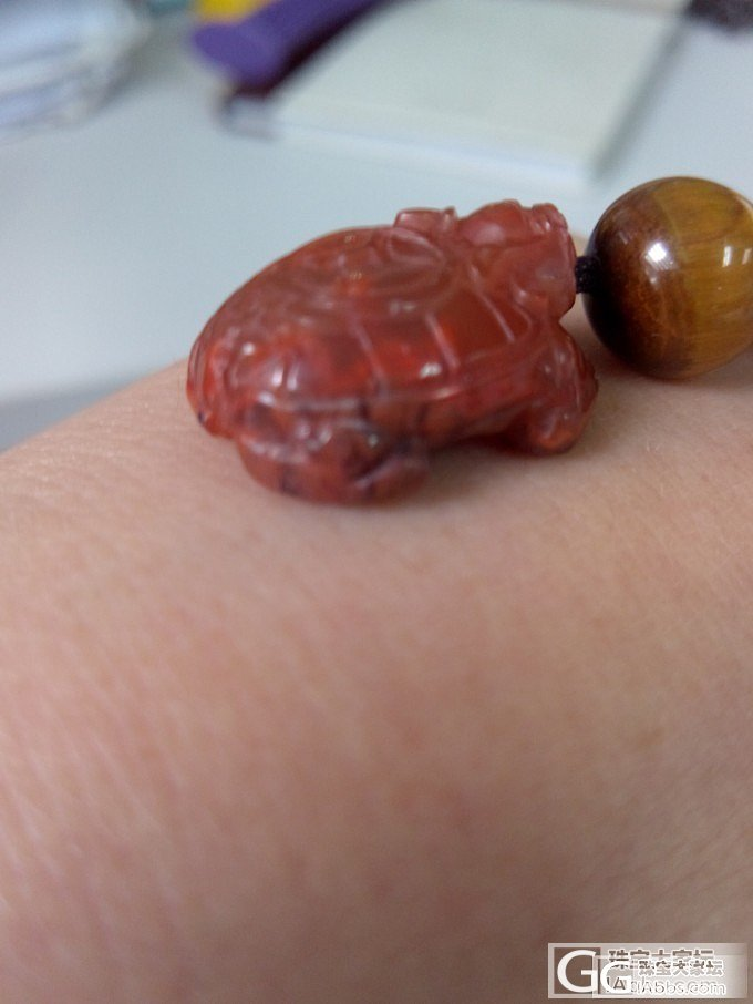 南红龙龟和红幽灵手串(已出)_宝石