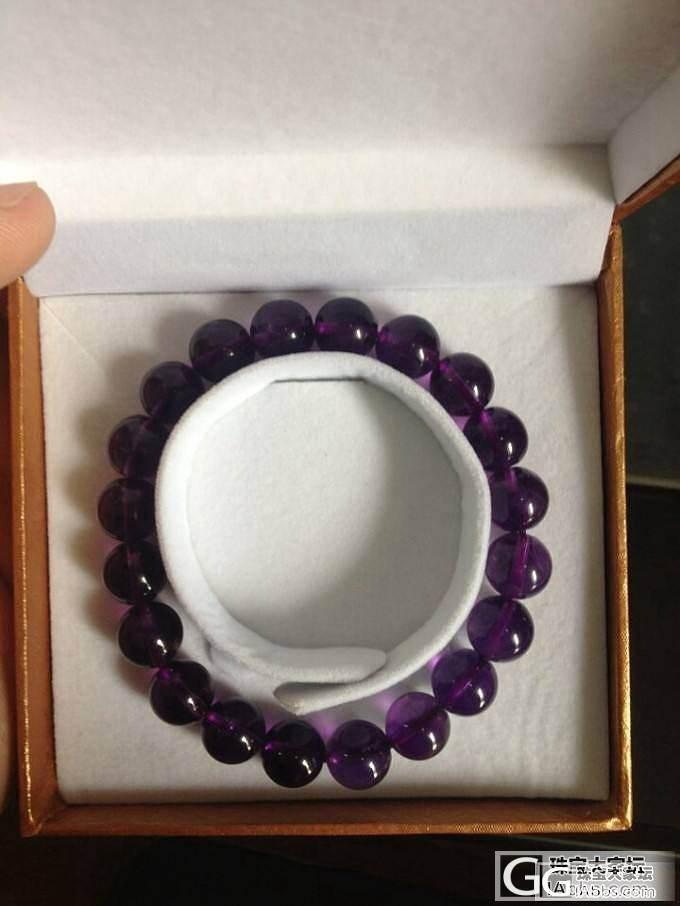刚入的紫水,成色不错吧_水晶