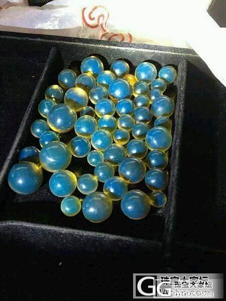 多米蓝珀 顶级圆珠 颗颗晶莹剔透,高..._珠宝