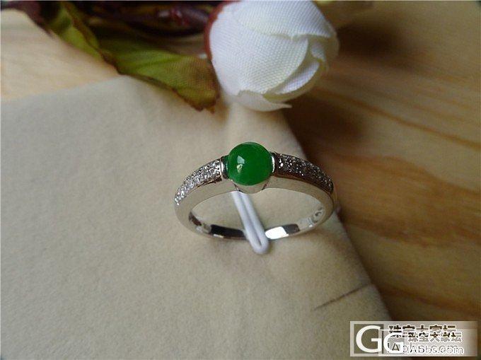 绿色蛋面戒指,售价2800, 微信号:feicui10_小蛋蛋美玉店