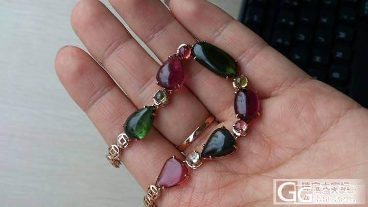 看朋友们发的都是圆珠手链,我发条镶嵌的,有人喜欢么_碧玺