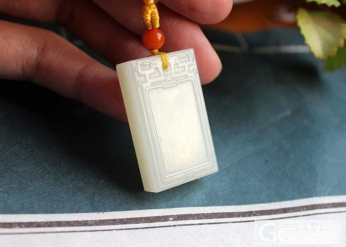 【張紀】和田玉 俄料 白玉 平安无事牌 挂牌 挂件_传统玉石