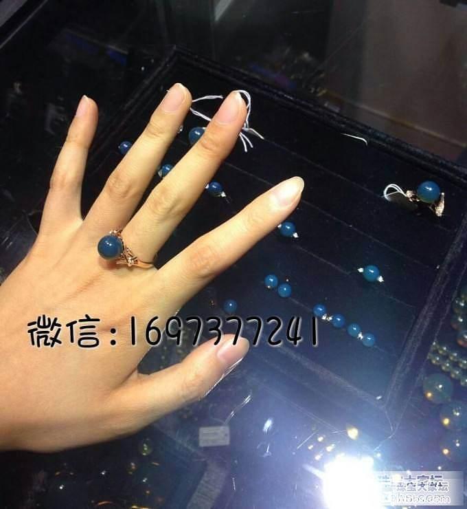 顶级 多米尼加 蓝珀戒指 枚枚精工 ..._有机宝石