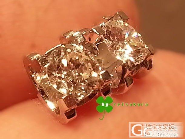 改镶的排钻戒指和牛头耳钉_钻石