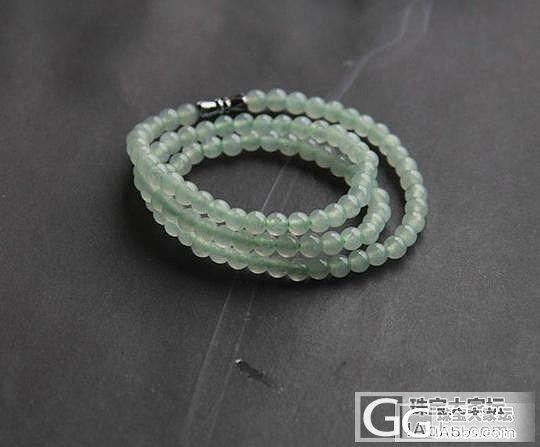 转鸭子家的冰种淡绿翡翠项链/手链(补上身图)_翡翠