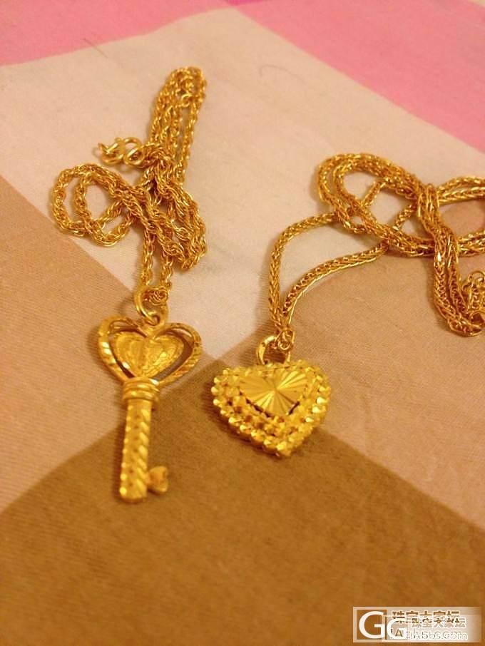 美丽的小钥匙和美丽的小桃心_吊坠项链金