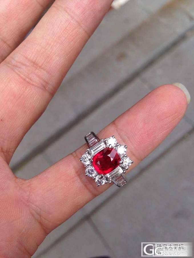 帮忙看下这个,2.02ct 莫桑无烧,鸽血 GRS_戒指红宝石
