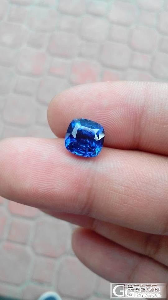 上个图,大家帮看看品质,证书grs在..._蓝宝石